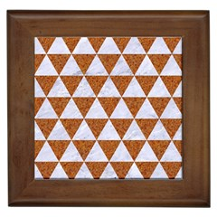 Triangle3 White Marble & Rusted Metal Framed Tiles by trendistuff