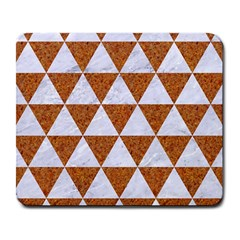 Triangle3 White Marble & Rusted Metal Large Mousepads by trendistuff