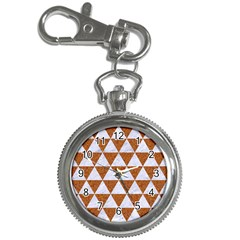 Triangle3 White Marble & Rusted Metal Key Chain Watches by trendistuff