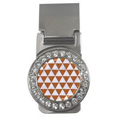 Triangle3 White Marble & Rusted Metal Money Clips (cz)  by trendistuff