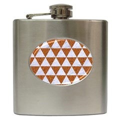 Triangle3 White Marble & Rusted Metal Hip Flask (6 Oz) by trendistuff