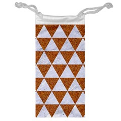 Triangle3 White Marble & Rusted Metal Jewelry Bag by trendistuff