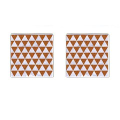 Triangle3 White Marble & Rusted Metal Cufflinks (square) by trendistuff