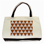 TRIANGLE3 WHITE MARBLE & RUSTED METAL Basic Tote Bag Front