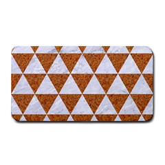 Triangle3 White Marble & Rusted Metal Medium Bar Mats by trendistuff