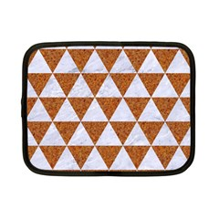 Triangle3 White Marble & Rusted Metal Netbook Case (small)  by trendistuff