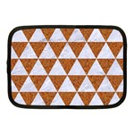 TRIANGLE3 WHITE MARBLE & RUSTED METAL Netbook Case (Medium)  Front