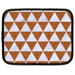 TRIANGLE3 WHITE MARBLE & RUSTED METAL Netbook Case (Large) Front