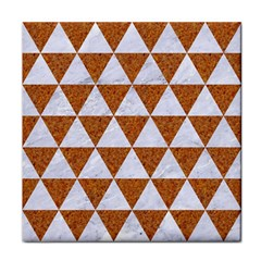 Triangle3 White Marble & Rusted Metal Face Towel by trendistuff