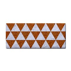 Triangle3 White Marble & Rusted Metal Cosmetic Storage Cases by trendistuff
