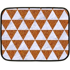 Triangle3 White Marble & Rusted Metal Double Sided Fleece Blanket (mini)  by trendistuff
