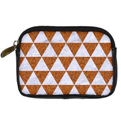 Triangle3 White Marble & Rusted Metal Digital Camera Cases by trendistuff
