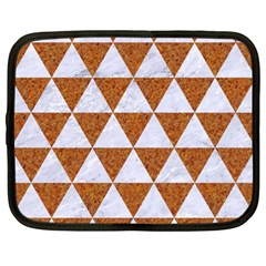 Triangle3 White Marble & Rusted Metal Netbook Case (xl)  by trendistuff