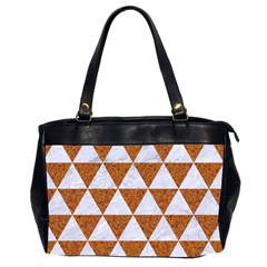 Triangle3 White Marble & Rusted Metal Office Handbags (2 Sides)  by trendistuff