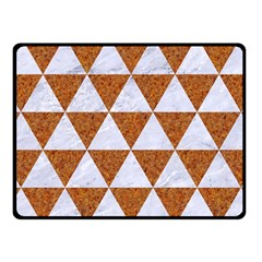 Triangle3 White Marble & Rusted Metal Fleece Blanket (small) by trendistuff