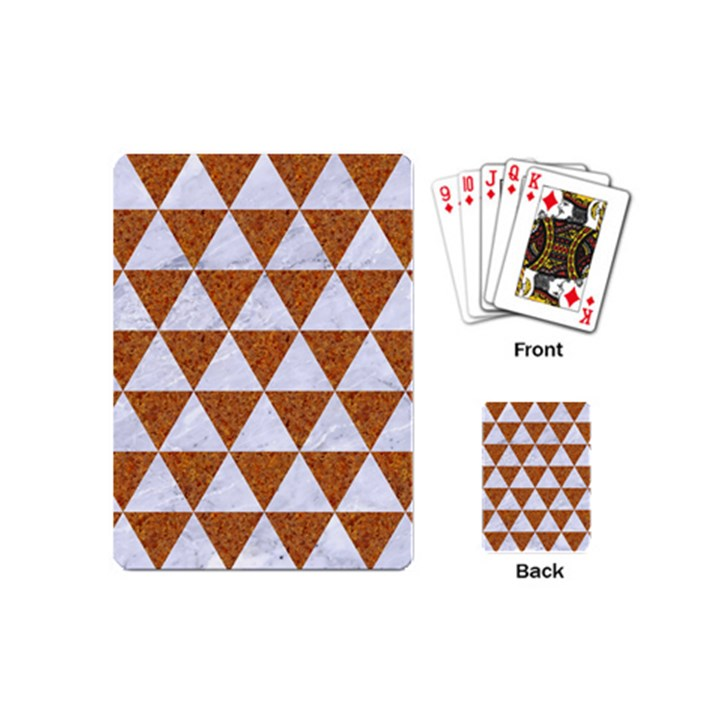 TRIANGLE3 WHITE MARBLE & RUSTED METAL Playing Cards (Mini)