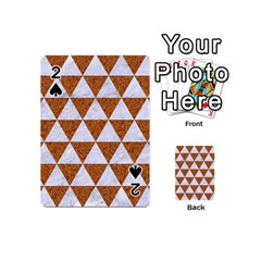 Triangle3 White Marble & Rusted Metal Playing Cards 54 (mini)  by trendistuff