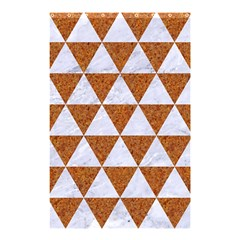 Triangle3 White Marble & Rusted Metal Shower Curtain 48  X 72  (small)  by trendistuff