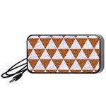 TRIANGLE3 WHITE MARBLE & RUSTED METAL Portable Speaker Front