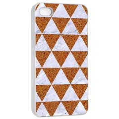 Triangle3 White Marble & Rusted Metal Apple Iphone 4/4s Seamless Case (white) by trendistuff