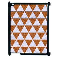 Triangle3 White Marble & Rusted Metal Apple Ipad 2 Case (black) by trendistuff