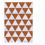 TRIANGLE3 WHITE MARBLE & RUSTED METAL Large Garden Flag (Two Sides) Back