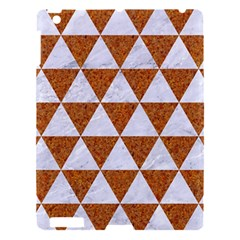 Triangle3 White Marble & Rusted Metal Apple Ipad 3/4 Hardshell Case by trendistuff