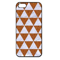 Triangle3 White Marble & Rusted Metal Apple Iphone 5 Seamless Case (black) by trendistuff