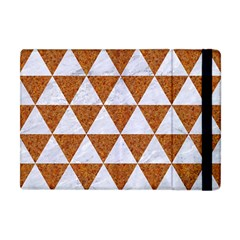 Triangle3 White Marble & Rusted Metal Apple Ipad Mini Flip Case by trendistuff