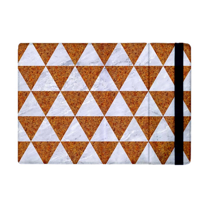 TRIANGLE3 WHITE MARBLE & RUSTED METAL Apple iPad Mini Flip Case