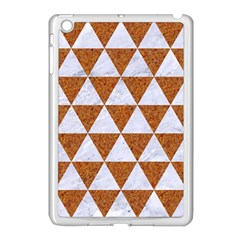Triangle3 White Marble & Rusted Metal Apple Ipad Mini Case (white) by trendistuff