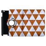 TRIANGLE3 WHITE MARBLE & RUSTED METAL Apple iPad 2 Flip 360 Case Front