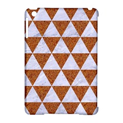 Triangle3 White Marble & Rusted Metal Apple Ipad Mini Hardshell Case (compatible With Smart Cover) by trendistuff