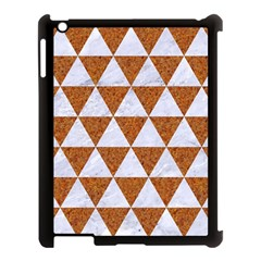 Triangle3 White Marble & Rusted Metal Apple Ipad 3/4 Case (black) by trendistuff