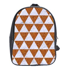 Triangle3 White Marble & Rusted Metal School Bag (xl) by trendistuff