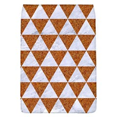 Triangle3 White Marble & Rusted Metal Flap Covers (l)  by trendistuff