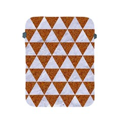 Triangle3 White Marble & Rusted Metal Apple Ipad 2/3/4 Protective Soft Cases by trendistuff