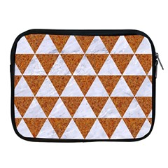 Triangle3 White Marble & Rusted Metal Apple Ipad 2/3/4 Zipper Cases by trendistuff