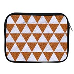 TRIANGLE3 WHITE MARBLE & RUSTED METAL Apple iPad 2/3/4 Zipper Cases Front