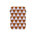 TRIANGLE3 WHITE MARBLE & RUSTED METAL Apple iPad Mini Protective Soft Cases Front