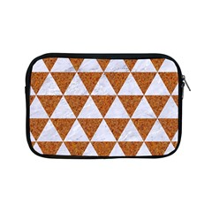 Triangle3 White Marble & Rusted Metal Apple Ipad Mini Zipper Cases by trendistuff