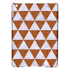 Triangle3 White Marble & Rusted Metal Ipad Air Hardshell Cases by trendistuff