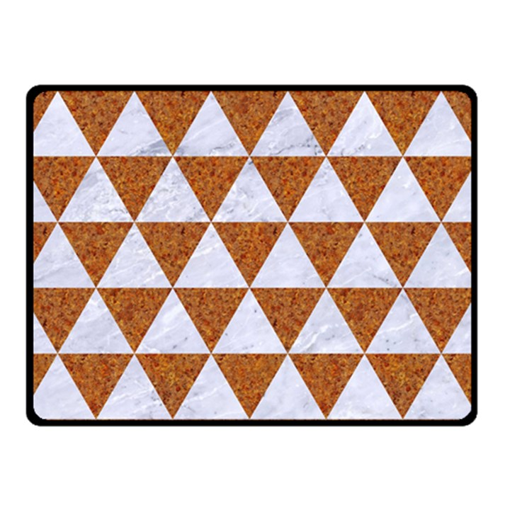 TRIANGLE3 WHITE MARBLE & RUSTED METAL Double Sided Fleece Blanket (Small)