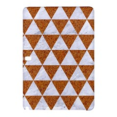 Triangle3 White Marble & Rusted Metal Samsung Galaxy Tab Pro 12 2 Hardshell Case by trendistuff