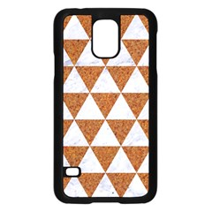 Triangle3 White Marble & Rusted Metal Samsung Galaxy S5 Case (black) by trendistuff
