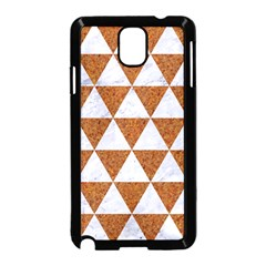 Triangle3 White Marble & Rusted Metal Samsung Galaxy Note 3 Neo Hardshell Case (black) by trendistuff