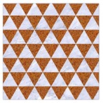 TRIANGLE3 WHITE MARBLE & RUSTED METAL Large Satin Scarf (Square) Front