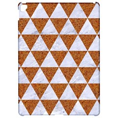 Triangle3 White Marble & Rusted Metal Apple Ipad Pro 12 9   Hardshell Case