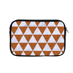 Triangle3 White Marble & Rusted Metal Apple Macbook Pro 13  Zipper Case by trendistuff