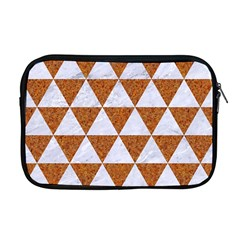 Triangle3 White Marble & Rusted Metal Apple Macbook Pro 17  Zipper Case